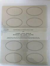 Gartner Studios Imprintable Logo Seals Stickers, Ivory, Oval, Pack Of 100