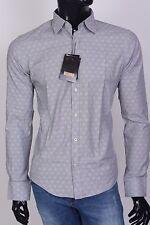 NEW ZILLI  MEN'S DRESS SHIRT-RRP $499 ,size 41- M,gray