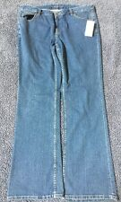 Michael Kors Faded Women's Boot Leg Blue Jeans Size 14 New
