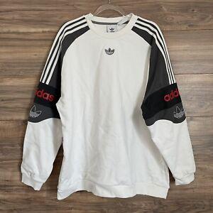 Adidas SPRT Football Crew Mens Sweatshirt Pullover Size XXL New