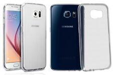 2 Coques Crystal Transparentes Pour Samsung Galaxy S6 (1 souple et 1 rigide)
