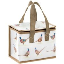 PHEASANTS Lunch Bag Cooler Picnic Foil Linen Insulated School Bags