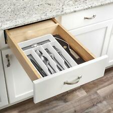 Plastic Non Slip 5 Compartment Utensil Cutlery Tray Storage Organiser Rack