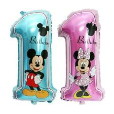 """30"""" Disney 1st Birthday Number 1 Boy Girl Foil Balloons Mickey Minnie Mouse"""