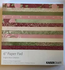 "Kaisercraft 6""x6"" Paper Pad English Rose Collection Crafts Scrapbooking PP835"