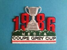 Rare Vintage 1986 Grey Cup CFL Football Hat Jacket Media Patch Crest Tiger Cats
