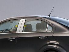 2013-2018 CHEVROLET SONIC 4 Piece Stainless Pillar Post Trim. Sedan & Hatchback