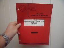 (Drawer 35) Onan CCKB Electric Generating Plants Major Service Manual