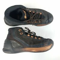 Steph Curry 3 Under Armour Basketball Shoes Black Rose Gold Copper Brass sz 8.5