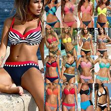 Women Padded Push-up Bikini Set 2 Piece Swimsuit Swimming Swimwear Bathing Suit
