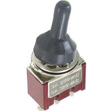 5 Stück Miniaturkippschalter MTS-1. 1x EIN-AUS-TAST schaltend Spritzwasserschutz