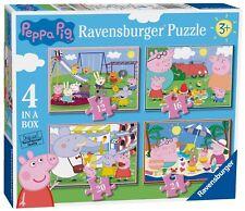 NUOVO! Ravensburger PEPPA PIG Divertente giorni fuori 4 in (ca. 10.16 cm) un set di Puzzle età 3+