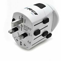 Safest World Travel Adapter Grounded by Orei 3 Prong Plug for Laptop, Chargers,