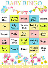 BABY BINGO Baby Shower Game 20 Sheets Players UK Version Boy Girl Neutral