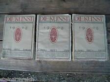 München 1908 DIE KUNST 3 Hefte+1914 DEUTSCHE KUNST UND DEKORATION Koch Darmstadt