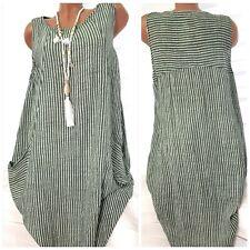 Strickkleid 100/% Leinen Somerkleid Leinenkleid Business öko Sommer Kleid 1507