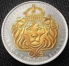 Scottsdale Omnia 24k Gold Gilded 1oz .999 pure Silver Coin  1
