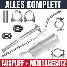 Auspuffanlage Schalldämpferset Auspuff Peugeot 206+ PLUS 1.1 1.4 Schrägheck