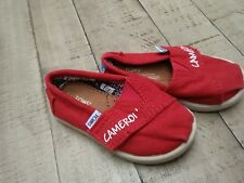 Toms boys girls shoes red 5 canvas toddler