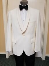 GREAT DINNER JACKET!   Winter white wool dinner jacket.  (sizes are limited)