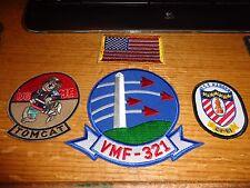 F 14 TOMCAT DESERT STORM USMC  VF 321 PATCH SET  LOT OF 4  NEW   # 17