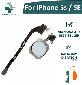 For iPhone 5s / iPhone SE Home Button Fingerprint Touch ID Flex Cable White New
