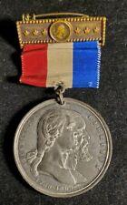 1889 George Washington Centennial Festival Medal Ribbon Badge w816