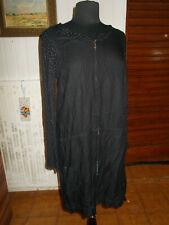 Robe droite à resserer à la taille bi-matières noir à pois MISS CAPTAIN 42 14UK