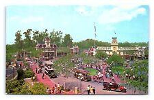 Vintage Postcard Town Square Main Street Disneyland Anaheim CA 1-266 SC8558 V1