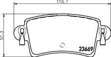Mintex set pad frein arrière mdb2269 - Tout Nouveau - Original - Garantie 5 ans