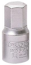 Genuine Draper 14mm hexagonal impulsor cuadrado de 3/8 Llave Tapón de Drenaje | 38327