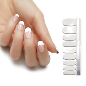 White French one piece clear overlay color real nail polish strips KZ21 street