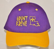 NEW ORLEANS SAINTS Grunt Krewe Snapback Baseball Cap Hat Embroidered NWOT M-L