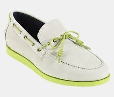 Cole Haan Empire Ivory/Green Suede Air Mason Loafer Boat Shoe - MSRP $148