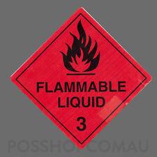 1000 x Flammable Liquid 3 Label Stickers 20x20mm