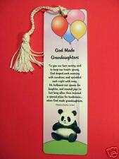 God Made Grandaughters Poem on Tassel Bookmark (natural tassel-sku# 906)