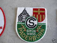 VINTAGE Collector Patch Grun Weiss Paderborn