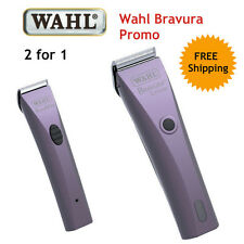 WAHL BRAVURA CLIPPER PROMO SET - Includes Mini Trimmer Horse Dog Set Blades