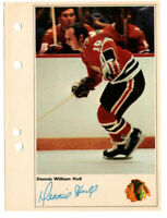 1971-72 Toronto Sun Dennis Hull Action Photo Chicago Black Hawks