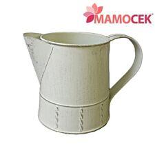 BROCCA metallo latta fioriera h14 centrotavola portavaso decorazione Shabby