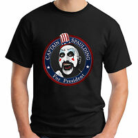 New CAPTAIN SPAULDING FOR PRESIDENT Rob Zombie Black Men's T-Shirt Size S-5XL