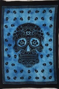Wall Hanging Small Poster Skull Design Cotton Tapestry Beautiful Home Decor Art