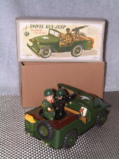 VINTAGE NOMURA SWIVEL GUN JEEP BATTERY OPERATED, FULLY WORKING W/ORIGINAL BOX!!