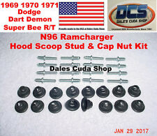 1969 70 71 72 Dodge N96 Ramcharger Hood Scoops Stud & Retainer Nut Kit NEW USA