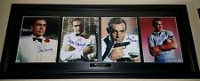 Sean Connery Custom Framed 007 Set of 4 Autographed 11x14 All PSA/DNA