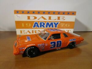 ACTION 1/24 DALE EARNHARDT #30 ARMY 1976 CHEVY MALIBU USED NICE *READ*