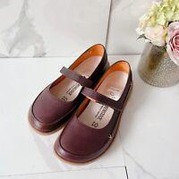 Birkenstock Iona Womens Mary Jane Shoes Flats Dark Brown Leather EU 37 US 6-6.5