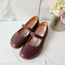 Birkenstock Iona Womens Mary Jane Shoes Flats Dark Brown Leather EU 37 US 6-6.5