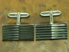 835 ARGENTO GEMELLI con strisce modello/in puro argento/12,6g