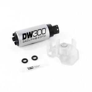 DeatschWerks 340lph DW300C Compact Fuel Pump w/Install Kit 08-15 for Mitsubishi